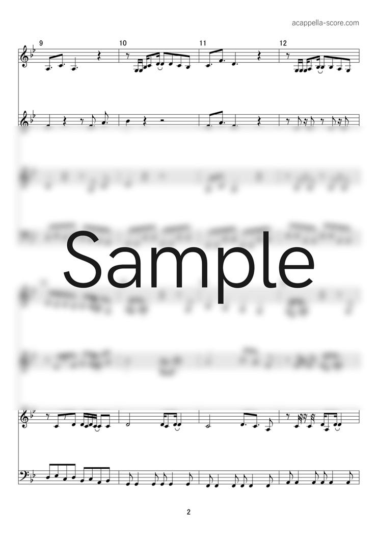【アカペラ楽譜】フライングゲット - AKB48