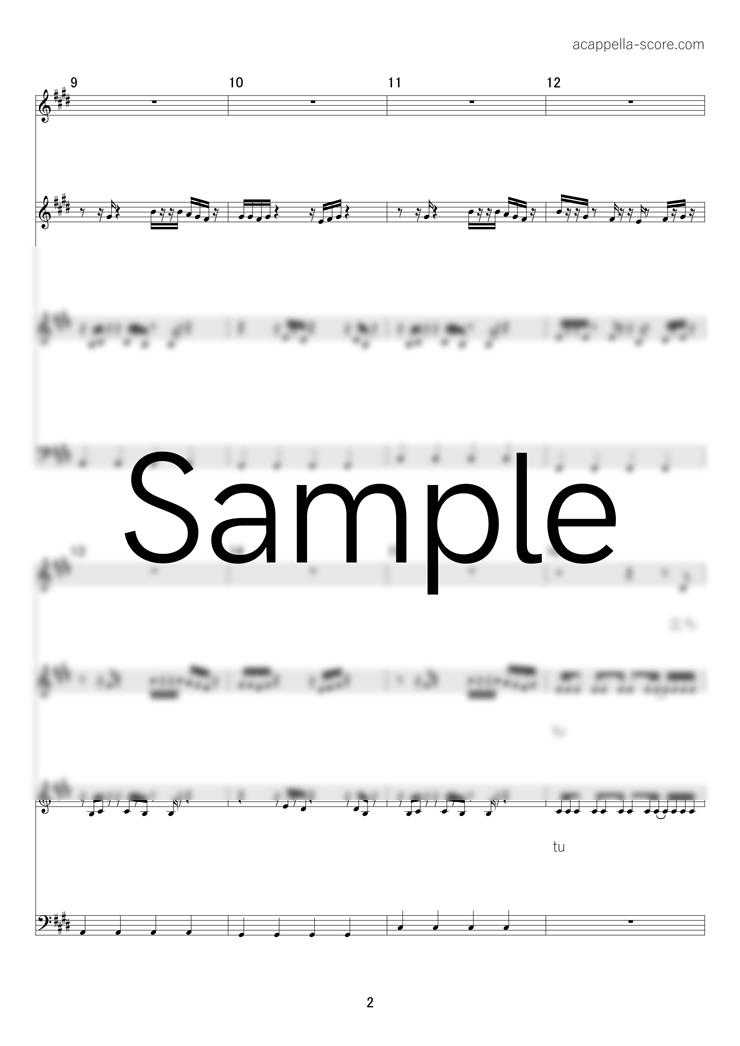 【アカペラ楽譜】ヒューマノイド - ずっと真夜中でいいのに。